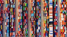 Pan Yinzhi, 13, from China managed to get a unique and colorful perspective of a cargo storage yard