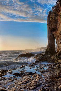 The Tower/Staircase to the beach, Victoria Beach, Laguna Beach, California by Paul Richard Pucillo