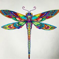 Drawn dragonfly color - pin to your gallery. Explore what was found for the drawn dragonfly color Dragonfly Tattoo Design, Dragonfly Art, Dragonfly Clipart, Dragonfly Images, Dragonfly Painting, Tattoo Designs, Colouring Pages, Coloring Books, Pencil Drawings