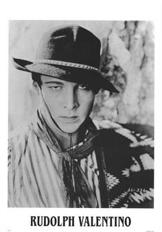 """One of Hollywood's first """"sex symbols"""", Rudolph Valentino was known to make women swoon at film premiers. How can you resist that seductive stare? Ships fast. 26x38 inches."""