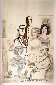"""""""Reality is only the dream in which our enemies believe."""" - Quentin Crisp. Illustration by Saul Steinberg (1968)"""