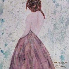 Várakozás. Akvarell, papír.