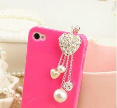 1PC Bling rhinestone heart pearls dust plug earphone plug Apple iPhone 4/4s iphone 5 case ear jack plug iphone dust plug 3.5mm실시간바카라실시간바카라실시간바카라실시간바카라실시간바카라실시간바카라실시간바카라