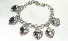 Trachtenarmband, Herzen ca. 21cm, verstellbar