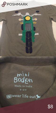 Mini Biden Appliqué Shirt Motorcycle Appliqué shirt EUC Mini Boden Shirts & Tops Tees - Short Sleeve