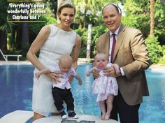 Prince Albert & Princess Charlene posed for photos with their twins Gabriella and Jacques and gave an interview to Hello! magazine - July 7, 2015.