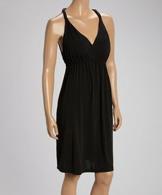 Look what I found on #zulily! Black Sleeveless Empire-Waist Dress by Mingle #zulilyfinds