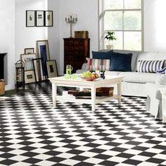Reststück Tarkett Comet Scacchiera in PVC x m Checkered Floors, Color Schemes, Flooring, Contemporary, Rugs, Design, Home Decor, Diy Pins, Kitchen