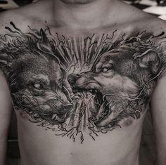 "3,959 Likes, 48 Comments - Daniel Baczewski (@danielbacz) on Instagram: "" done at @inkdependenttattoos  @cheyenne_tattooequipment #edinburghtattoo #edinburgh #wolf…"""