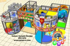 Fun indoor castle sample design for a children's center, church ministry, airport terminal, laser tag center.... anywhere that children play.  Design, manufacture and install WORLDWIDE. We have been creating FUN since 1999.  #weBUILDfun #makingFUNfunner #Iplayco #indoorPlayground #FUNcenterMarketing