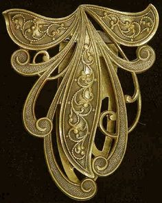 Nouveau-inspired Vintage 1930's-40's Joseff of Hollywood Signed Dress Clip or Brooch  $325.00