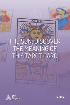 """The Sun Card is card """"19"""" in the deck, and possesses an important energy and meaning when it shows itself during a reading. Astrology And Horoscopes, Trump Card, Here On Earth, Major Arcana, Subconscious Mind, Inner Child, Tarot Decks, Numerology, Tarot Cards"""