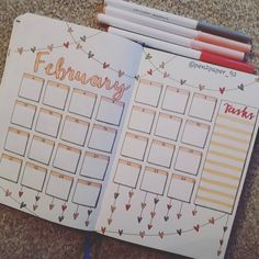 These amaizng february bullet journal layout ideas are the perfect sreads to inspire your faburary bujo spreads. Bullet Journal Organisation, Monthly Bullet Journal Layout, February Bullet Journal, Bullet Journal Cover Page, Bullet Journal Banner, Bullet Journal Notebook, Bullet Journal School, Bullet Journal Ideas Pages, Daily Journal