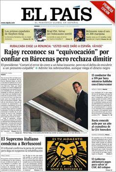 Los Titulares y Portadas de Noticias Destacadas Españolas del 2 de Agosto de 2013 del Diario El País ¿Que le pareció esta Portada de este Diario Español?