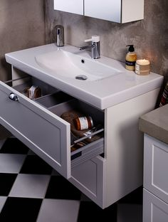 Bathroom sink for countertops Makeup Desk, Wardrobe Solutions, Bathroom Bath, Bathroom Ideas, Closet Storage, Kitchen Cart, Amazing Bathrooms, Room Interior, Sink