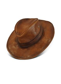 Pratesi Genuine Leather Hat  280.00 Actual transaction amount. Leather Cowboy  HatsWestern ... be9b1186d329