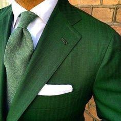 Green Suit and Tie Gentleman Mode, Gentleman Style, Dapper Gentleman, Foto Fashion, Estilo Fashion, Fashion Vest, Womens Fashion, Sharp Dressed Man, Well Dressed Men