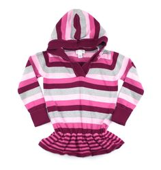 tunic for girls, hoodie for girls, striped sweater, Children's Place sweater