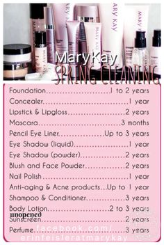 It's time for Spring cleaning, starting with your makeup bag! Why not replace your products with some new #MaryKay you will love!!