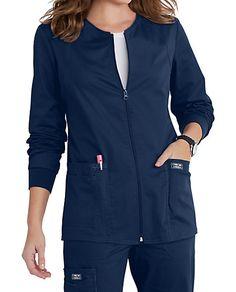 Cherokee Workwear Core Stretch Zip Front Warm Up Scrub Jackets Dental Uniforms, Medicine Illustration, Dental Scrubs, Cute Scrubs, Scrubs Outfit, Scrub Jackets, Scrub Tops, Fashion Essentials, Caregiver