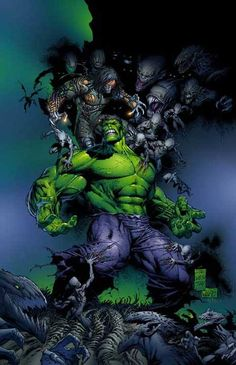 The Hulk vs Darkness by Marc Silvestri *