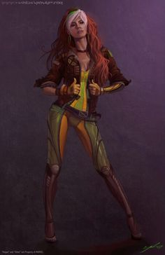 Rogue, one of my favorite comic book characters