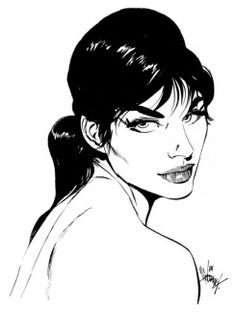 Modesty Blaise created by writer Peter O'Donnel and artist Jim Holdaway.