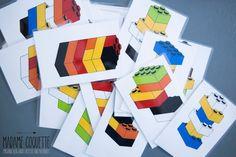 Madame Coquette: DIY / Duplo hrací karty Lego Duplo, My Little Girl, Logos, Kids, Lego Duplo Table, Young Children, Boys, Logo, Children