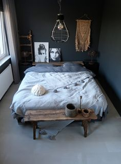 banking slaapkamer banking slaapkamer een slaapkamer met 50 shades of grey Scandinavian Style Home, Scandinavian Interior Design, Home Interior Design, Contemporary Home Decor, Living Room Paint, Apartment Design, Home Decor Styles, Home Decor Inspiration, Decoration