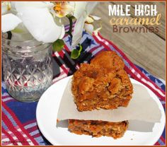 Mile High Caramel Bars - Shugary Sweets