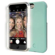 Apple iPhone SE Good Lighting LED Selfie Case - Mint #apple #lume #selfiecase #iphonesecase #iphone5case #selfielightcase #lightupcase #selfie
