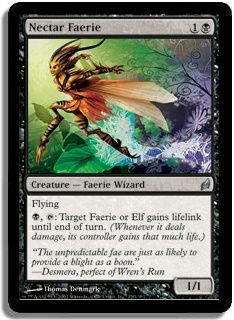 Magic the Gathering Card Game MTG Lorwyn Single Black Uncommon Nectar Faerie