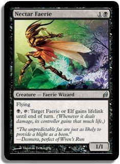 Magic the Gathering Card Game MTG Lorwyn Single Black Uncommon Nectar Faerie