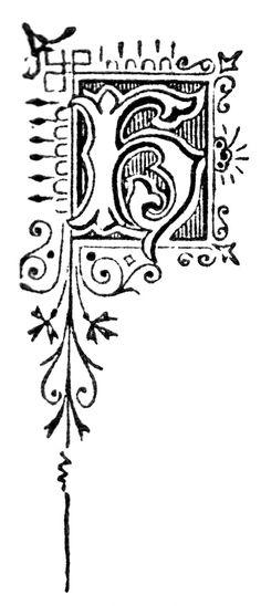 Free High Resolution Printable Vintage Initial Capital Letter 'K' Letter K, Initial Letters, Initial Capital, Initials, Printable Vintage, Calligraphy, Monograms, Free, Lettering