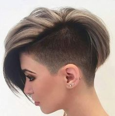 I don't have thick hair just love the cut. Undercut Pixie Hairstyle