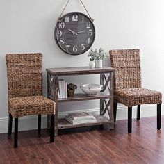Banana Bark Parsons Chairs, Set of 2 | Kirklands