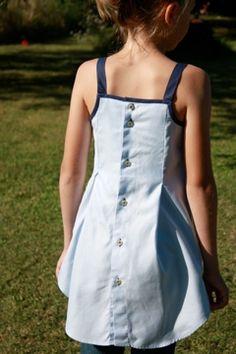Comment recycler une chemise : robe, salopette... Jolies idées