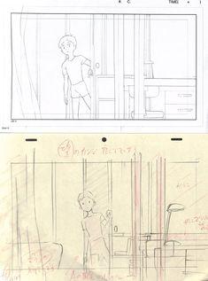アニメ私塾 (@animesijyuku) さんの漫画 | 25作目 | ツイコミ(仮) Storyboard Examples, Storyboard Drawing, Animation Storyboard, Comic Book Layout, Comic Style Art, Comic Tutorial, Manga Drawing Tutorials, Composition Art, Background Drawing