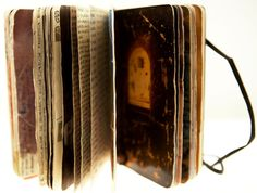Moleskine Series (A - #58 & #35), Photographs, collage and ink by Juan Rayos