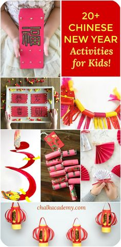 Amazing fun and educational Chinese New Year Activities for kids (Chinese Red Envelope free printable Dragon Craft Craft stick puzzle Paper Plate drum Chinese Fan lantern firecracker Chinese New Year Crafts For Kids, Chinese New Year Dragon, Chinese New Year Activities, Chinese New Year Party, Chinese New Year Decorations, Chinese Crafts, New Years Activities, Craft Activities For Kids, Preschool Crafts
