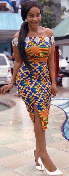 Benedicta Gafah looks gorgeous in her colorful kente dress style. African fashion Ankara kitenge African women dresses African prints Nigerian fashion style Ghanaian fashion kente styles African fashion dresses african print styles for graduation. African Fashion Designers, African Fashion Ankara, African Inspired Fashion, Latest African Fashion Dresses, African Print Fashion, Nigerian Fashion, Ghanaian Fashion, African Prints, African Style Clothing