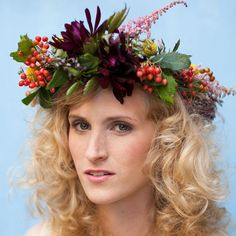 Fall wreath idea for centerpiece......How to Make a Floral Crown on Etsy Weddings
