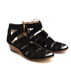 Conquer summer with the suede gladiator sandal!  www.mooreaseal.com