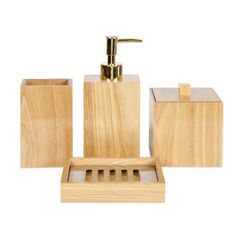 Bathroom Accessory Set Wooden 8 Piece Bamboo Bathroom Accessory Fair Bamboo Bathroom Accessories Inspiration