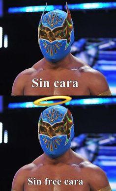 Sin Free Cara #WWE