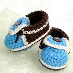 Baby Crochet Pattern Baby Booties Moccasins PDF 5 by Genevive, $4.95