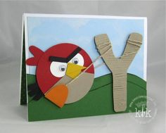 This Angry Bird card is super cute!!!