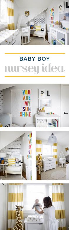 If you're looking for baby boy nursery ideas, perhaps you'll take inspiration from Jillian Harris'. We love the pops of color she uses throughout the decor.