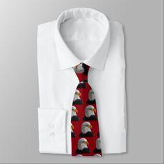 Bald eagle neck tie - accessories accessory gift idea stylish unique custom