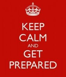 the preparedness game (You almost need to invert these two: Get Prepared and Keep Calm) Hurricane Preparedness, Disaster Preparedness, Get Prepared, Provident Living, Emergency Preparation, How To Get Better, Keep Calm Quotes, In Case Of Emergency, Keep Calm And Love